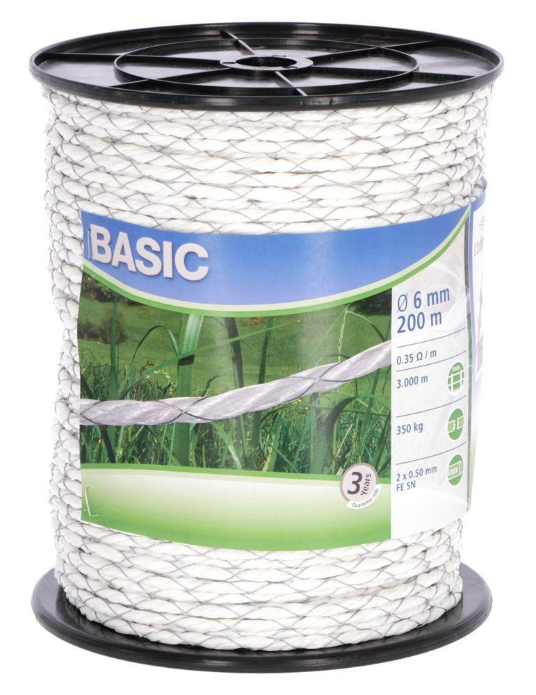 Basic Weidezaun- Seil 200m, Ø 6mm