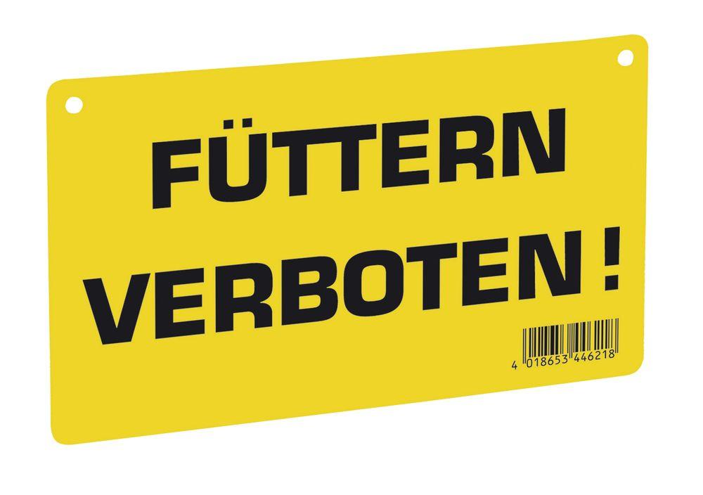 Warnschild: Füttern verboten!