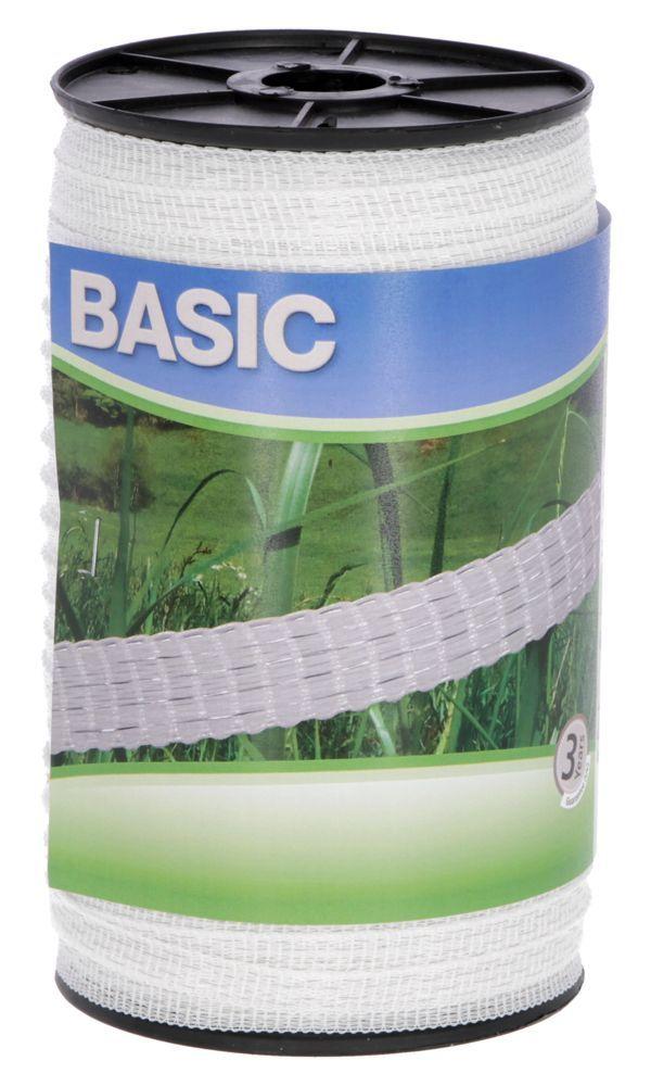 Basic Weidezaun- Band 200m/ 10mm, weiß 4x 016 Niro