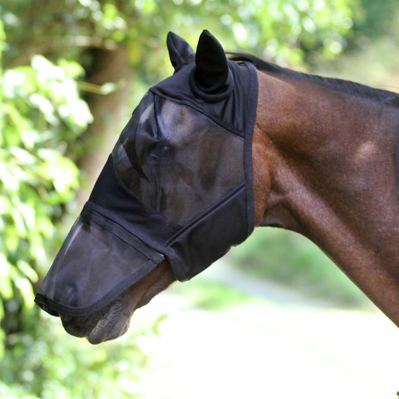 Fliegenmaske Comfort mit Ohren, Zipper Nase, Euroriding