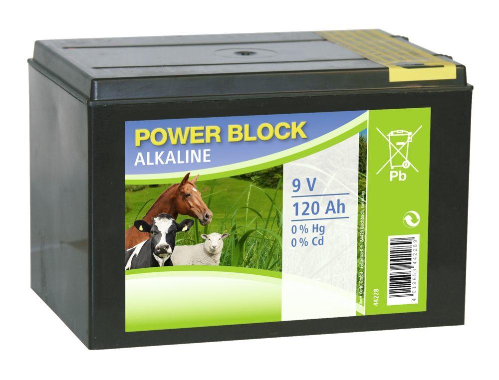 Alkaline-Batterie 9V 120Ah kleines Gehäuse