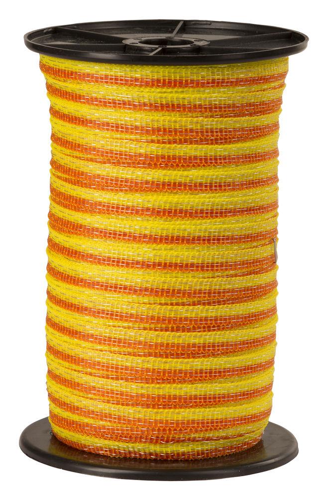 Basic Weidezaun- Band 250m/ 10mm, gelb-orange, 4x 0,16 Niro