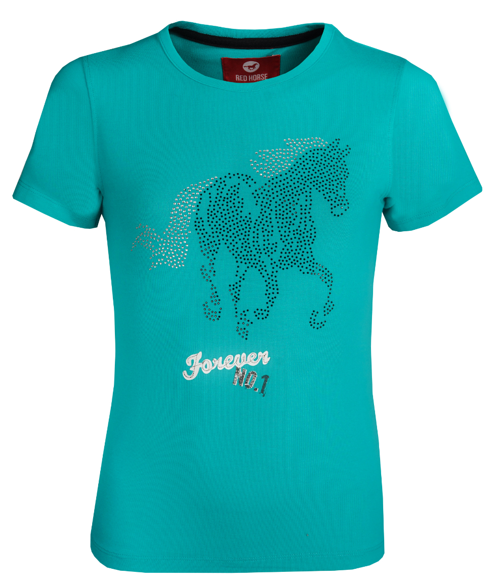 Kinder T-Shirt with Print Emerald