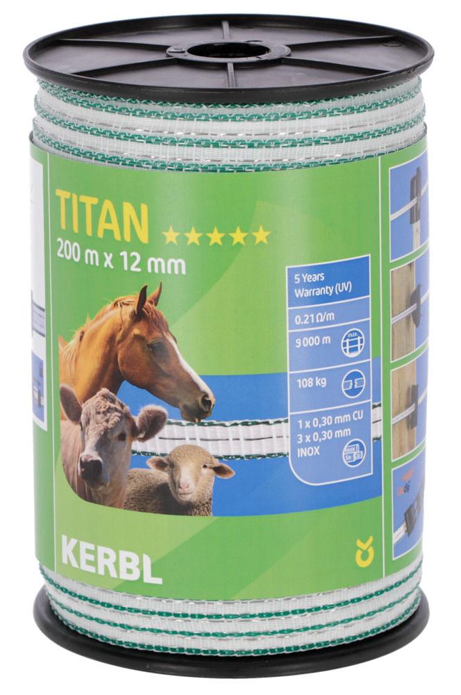TITAN Weidezaun- Band 200m/ 12mm