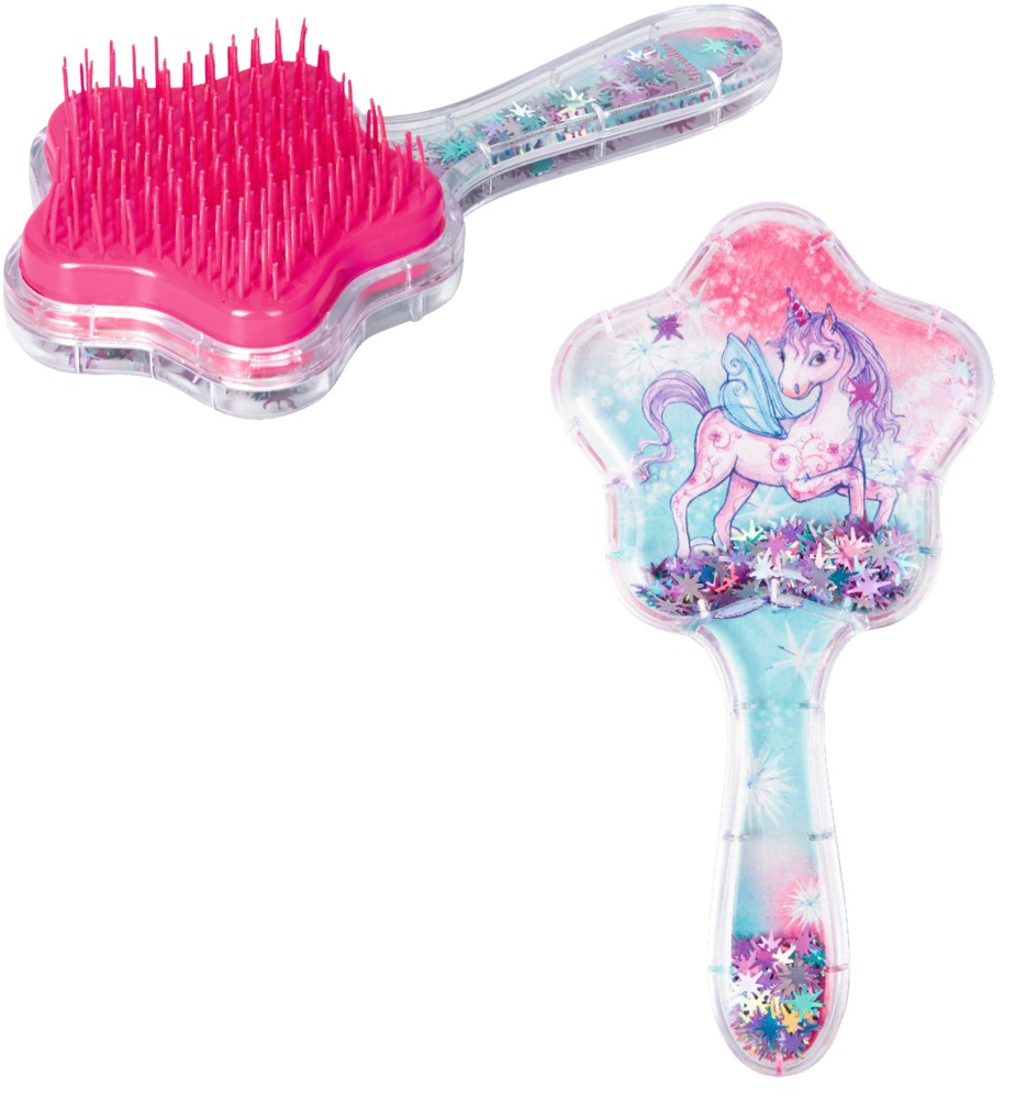 Haarbürste Einhorn mit beweglichem Glitter