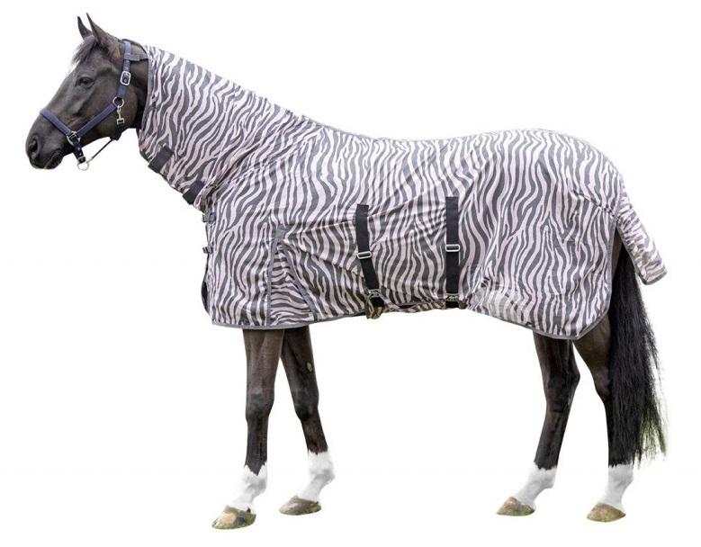Fliegendecke Zebra Rose mit Halsteil