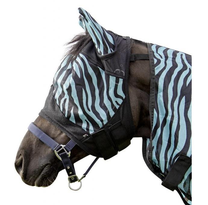 Fliegenmaske Zebra Aqua